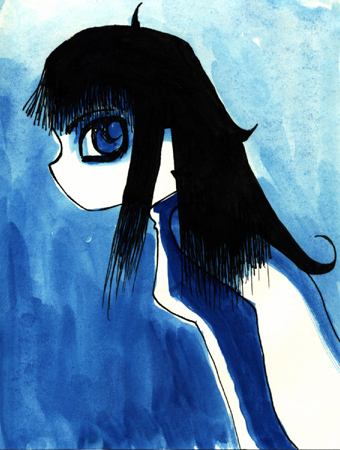 (untitled blue girl)